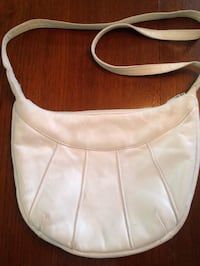 White leather sling bag Grums, 664 91