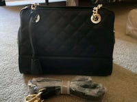 Charles and keith black quilted shoulder bag Mississauga, L4Z 4K5