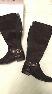 BNWT black riding boots size 8 WC