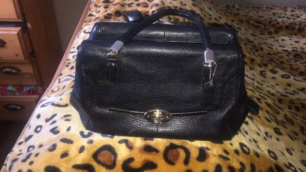 dd84dcf3f06b Used black leather caoch bag original for sale in Calgary - letgo