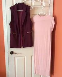 Sleeveless blazer and rose knee length fitted dress size S/M  Toronto, M3K 1Y3