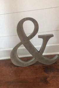 Wooden ampersand from Hobby Lobby.  Knoxville, 37902