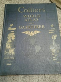 1941 World Atlas and Gazateer Kansas City