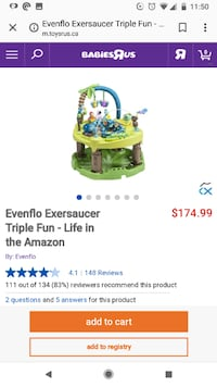 EUC baby exersaucer and gym Vaughan