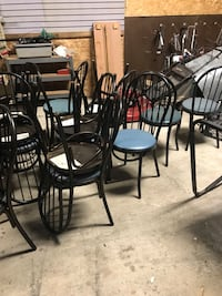 four black metal frame chairs Springfield, 62702