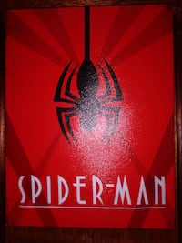 3 small canvases of Spider-Man