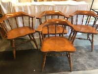Oak wood chairs ($20 ea. or 4 for $70) Manassas, 20110