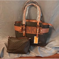 brown and black leather tote bag Davie, 33317