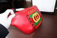Gucci Red Leather Fanny Pack Burke, 22015