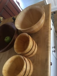 Set of wooden salad bowls East Providence, 02914