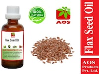 AOS Products 100% Pure Flax Seed Oil, cold pressed, (50ml) NOIDA