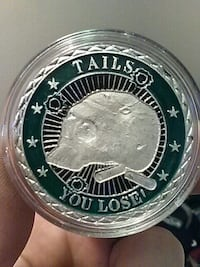Tails You Lose printed coin Centralia, 98531