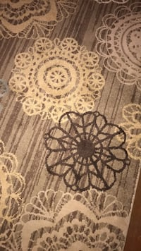 black and white floral area rug Westpoint, 47992