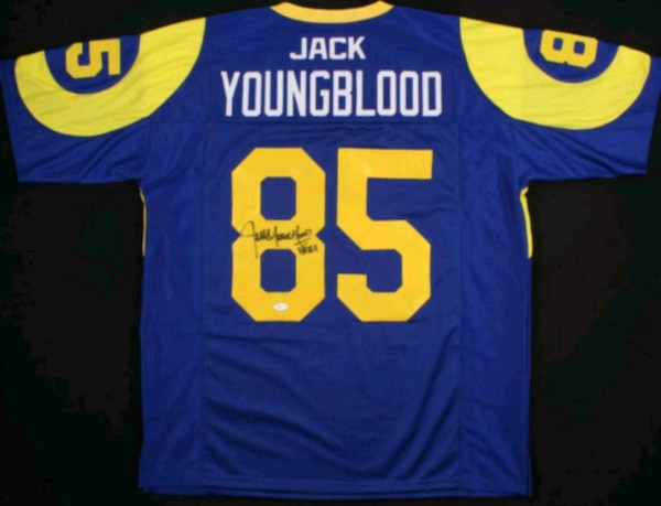 huge discount f2b94 8c564 Jack Youngblood signed L.A Rams Jersey JSA COA