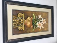 brown wooden framed painting of brown and white flowers Memphis, 38119