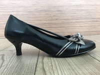 Like New* Floral Embellished Genuine Leather Pump Heels Shoe 8.5 Toronto