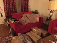 Red couch and loveseat set  Portsmouth