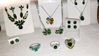 Rings, earings, necklace and earing sets