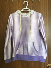 purple and white striped pullover hoodie Red Deer, T4P 1W3