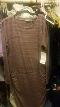 brown and white striped long-sleeved shirt Pomona, 91766
