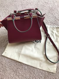 women's red leather 2-way bag Dallas, 75206