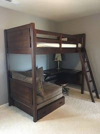 Boys bunk bed with sleeper couch and desk. Four drawer dresser. Manassas, 20112