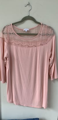 Women's pink lace scoop neck shirt Boone, 28607