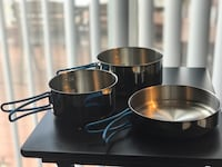 ALB Stainless Steel Camping Cook Set - 3 Pieces (NEW) Leesburg, 20175