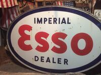 Vintage Double Sided Porceline Imperial Esso Dealer Sign  Barrie, L4N 7C5