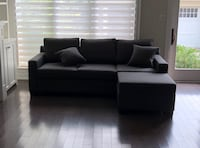 Custom Urban Barn Sofa with Pull Out Bed and Ottoman Toronto, M5V