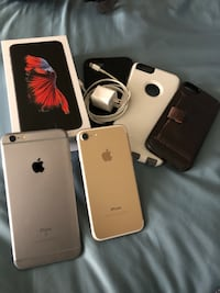 2 iPhones cheap, unlocked, iPhone 7 128GB and iPhone 6s Plus 64GB Brampton, L6P 2A4