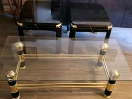 Glass Top Coffee Table w/2 End Tables