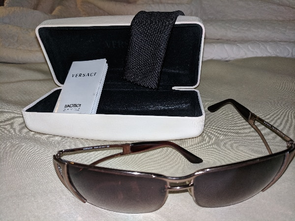 black framed sunglasses with case for sale  Phoenix
