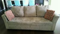 gray suede 3-seat sofa Calgary, T3N 1A9