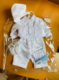 Beautiful NEW. 5 pc. CHRISTENING/BAPTISM SET for a BOY