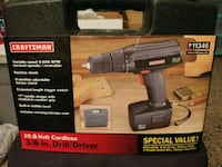 "CRAFTSMAN 10.8 VOLT CORDLESS 3/8"" DRILL/DRIVER Fort Lauderdale, 33334"