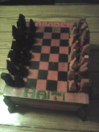 Wooden hand crafted chess set made in Hati Frackville, 17931