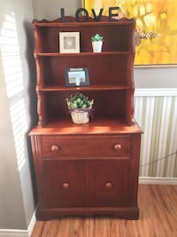brown wooden cabinet with hutch Surrey, V3S 8A7
