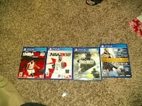 four Sony PS4 games Portsmouth, 23702