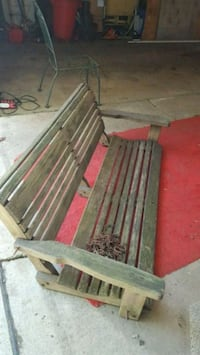 Wooden porch swing sturdy seats four Beaver Falls, 15010