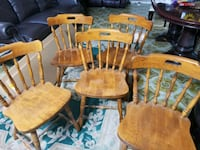 Brown solid wooden chairs. Toronto, M3N 1L3