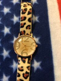 New leopard band fashion watch