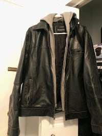 Mens Leather Guess Winter Jacket XL