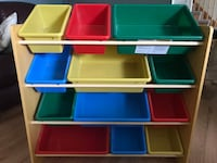 brown, green, and blue toy organizer Orangeville, L9W 4A2