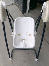 baby's white and gray high chair Edmonton, T6M 0L6