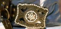 Brown  buckle with leather  belt  with  studs St. Catharines, L2M 4G1