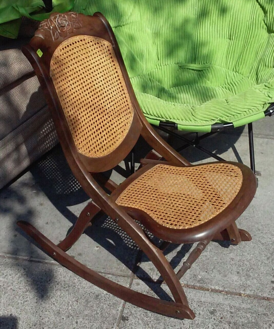 used 18090 vintage victorian style caned folding rockc for sale in rh gb letgo com