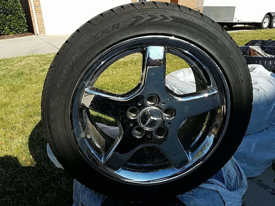 Used chrome mercedes benz rims and tires in virginia beach for Rims and tires for mercedes benz