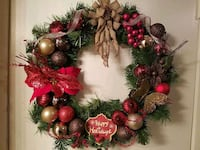 red, green, and brown wreath Pearland, 77581