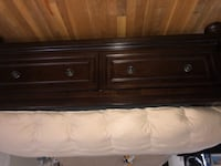 Queen Sleigh bed and nightstand